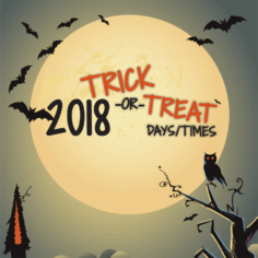 2018 wisconsin trick-or-treat times